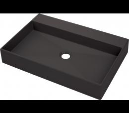 Deante Correo umywalka nablatowa 60 cm, antracyt / titanium