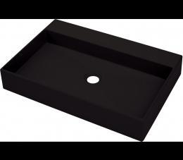 Deante Correo umywalka nablatowa 60 cm, czarny mat
