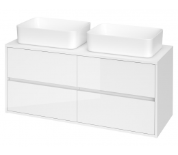 Cersanit Crea szafka z blatem 120 cm, biała