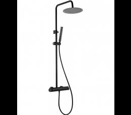 Deante Arnika deszczownia z baterią mieszaczową, czarna