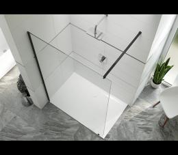 Sanplast kabina typu walk-in PIII/ALTIIa-130-S profile: czarne matowe, szyba: transparentna