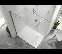 Sanplast kabina typu walk-in PIII/ALTIIa-160-S profile: srebrne błyszczące, szyba: transparentna