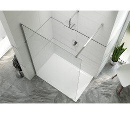 Sanplast kabina typu walk-in PIII/ALTIIa-150-S profile: srebrne błyszczące, szyba: grafit