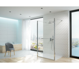 Sanplast kabina walk-in PII/ALTIIa-140-S profile: srebrne błyszczące, szyba: grafit