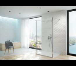 Sanplast kabina walk-in PII/ALTIIa-120-S profile: srebrne błyszczące, szyba: transparentna