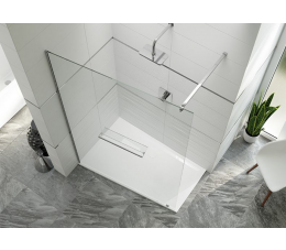 Sanplast kabina walk-in PT/ALTIIa-140 profie: srebrne błyszczące, szyba: transparentna