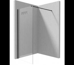 Deante Mokko kabina walk-in 100 cm profile: czarne, szkło: transparentne
