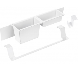 Deante Magnetic zestaw akcesoriów - biały