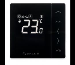 SALUS Controls Expert NSB podtynkowy, przewodowy, cyfrowy regulator temperatury - dobowy, czarny