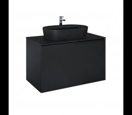 Elita Glam szafka podumywalkowa 90 cm 1S+1S, czarny matowy