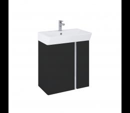 Elita Skye zestaw szafka + umywalka 60 cm, czarny matowy