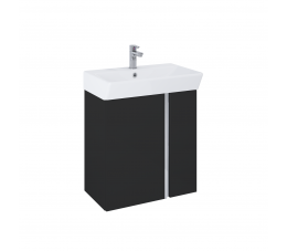 Elita Skye zestaw szafka + umywalka 50 cm, czarny matowy