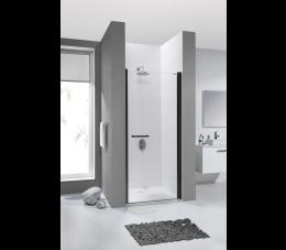Sanplast drzwi skrzydłowe DJ/PRIII 80 cm, profile: czarne matowe, szyba: transparentna