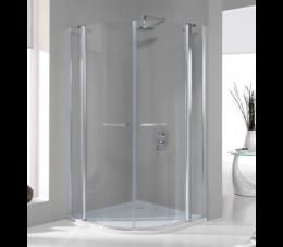 Sanplast kabina narożna półokrągła KP4/PRIII 100 cm, profile: srebrne błyszczące, szyba: transparentna