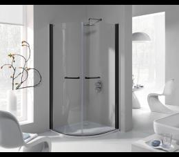 Sanplast kabina prysznicowa KP2/PRIII 90 cm, profile: czarne matowe, szyba: transparentna