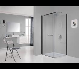 Sanplast kabina narożna KNDJ/PRIII 100 cm x 80 cm profile: czarne matowe, szyba: transparentna