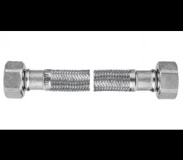"""Ferro wąż w oplocie ze stali odpornej na korozję z uszczelką 1/2"""", nakrętno - nakrętny 20 cm"""