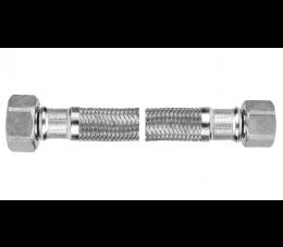 "Ferro wąż w oplocie ze stali odpornej na korozję 1/2""×3/8"", nakrętno - nakrętny 20 cm"