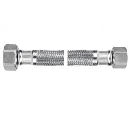 "Ferro wąż w oplocie ze stali odpornej na korozję 1/2""×3/8"", nakrętno - nakrętny 40 cm"