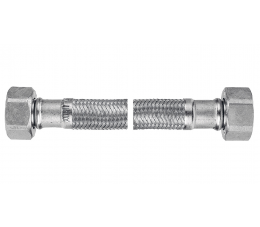 "Ferro wąż w oplocie ze stali odpornej na korozję 3/8""×3/8"", nakrętno - nakrętny 20 cm"