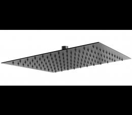 Ferro Slim Black - głowica talerzowa deszczowni 300x300, kolor czarny
