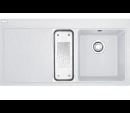 Franke Mythos MTG 651-100 Fragranit+ biały polarny, komora z prawej