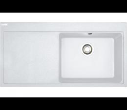Franke Mythos MTG 611 Fragranit+ biały polarny, komora z prawej