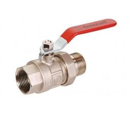 KFA zawór wodny, pełnoprzepływowy, nakrętno-wkrętny ze śrubunkiem, z dźwignią i dławikiem 1'