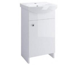 Cersanit zestaw Sati 40 cm, kolor: biały + umywalka Cersania 40