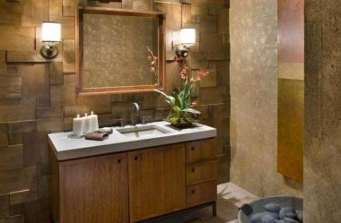 Drewno naturalnym elementem łazienki